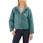 Women's WJ141 Carhartt Sandstone Sierra Jacket/Sherpa-Lined WJ141